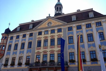 Rathaus Coburg mit Bratwurstmännle
